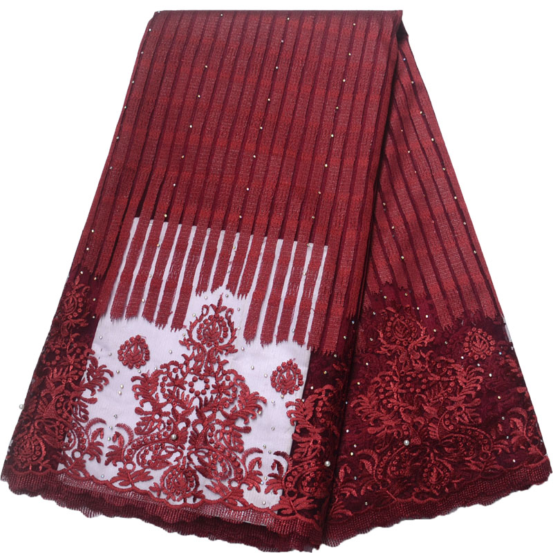 Popular Design African tulle lace fabric For Wedding Dress Nigerian Mesh Lace Fabric HX1162-1