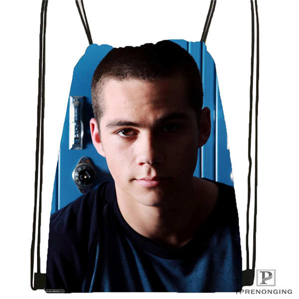 Custom Portrait_practice__dylan_o_brien Drawstring Backpack Bag Cute Daypack Kids Satchel (Black Back) 31x40cm#180611-03-108