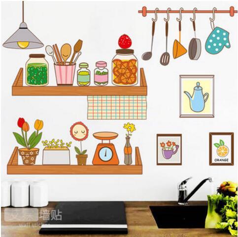 Pegatinas Se Pueden Quitar Creativa De Dibujos Animados Cocina