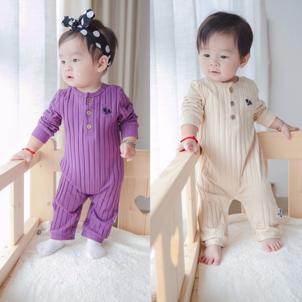 Newborn Baby Rompers Long Sleeve Boys Girls Clothes Cotton Tree Embroidery Knitted Infant Clothing Casual Toddler Girls 2 Colour newborn baby rompers baby clothing 100% cotton infant jumpsuit ropa bebe long sleeve girl boys rompers costumes baby romper