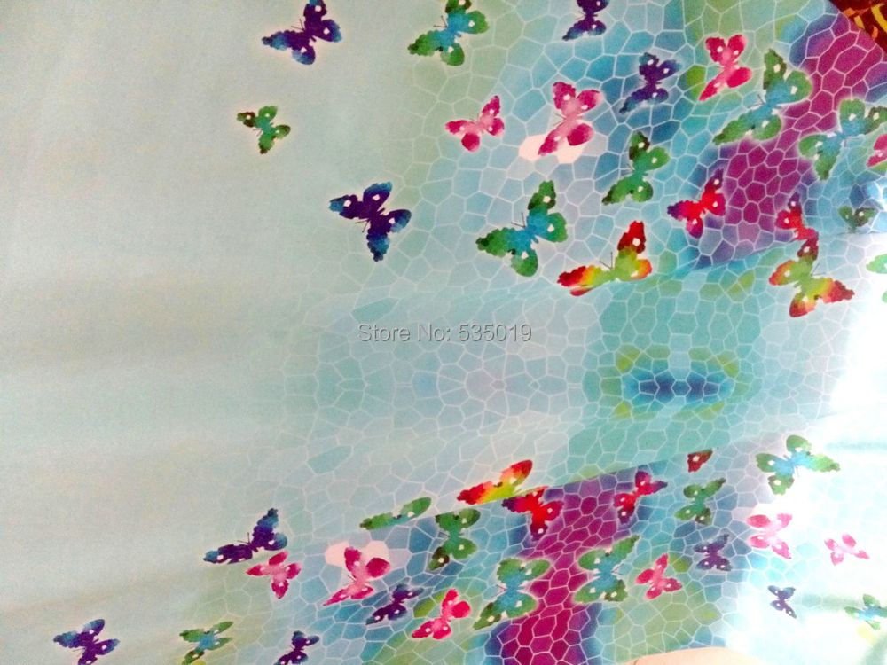 Super Hollandais Woven Fabric Heavy Silk Satin Material For Clothing Shirt Tulle Blouse Dress butterfly Printed Fabrics Textile