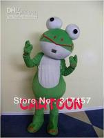 On Sale , Frog Mascot Costume Adult Character Costume Cosplay mascot costume free shipping