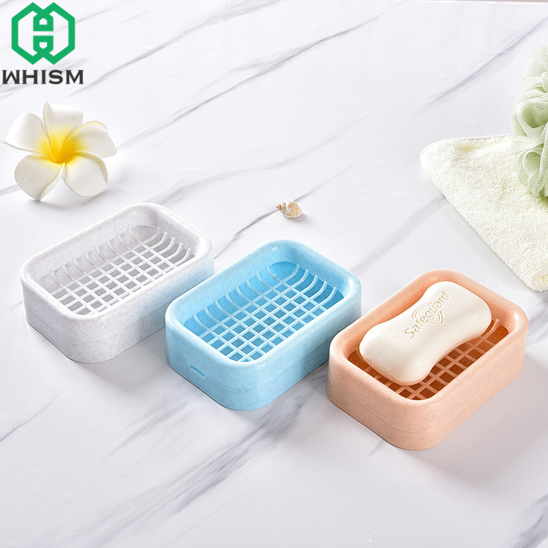 Aliexpress.com : Buy WHISM Plastic Soap Dish Draining Shower Soap Boxes  Kitchen Sponge Storage Tray Bathroom Soap Holder Case Portable Soap  Container From ...