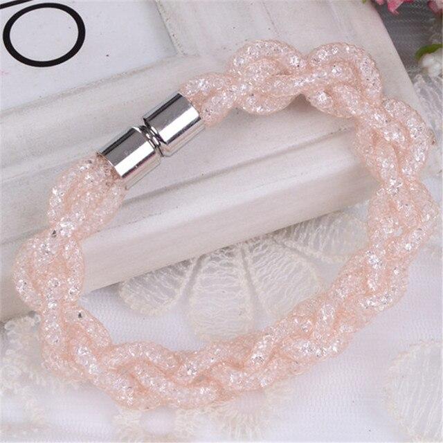 5f570abee366 € 1.13 |Malla giro doble Stardust pulseras piedras cristal lleno magnética  broche pulseras del encanto pulsera de los brazaletes para mujeres en ...