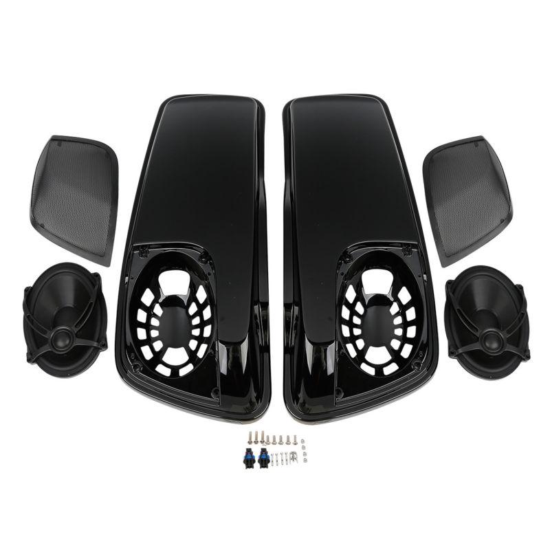 Selle Sac Couvercles W/5 X 7 Haut-parleurs Pour Harley Touring Electra Road Glide King FLH FLTR FLHX FLHR FLHTK FLHRC FLHT FLT 14-18