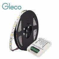 5メートルledストリップ5050 rgb cctでwifi ledコントローラフル色温度調整可能なledストリップrgb cct 5050 60 leds/m 12ボルト24ボル