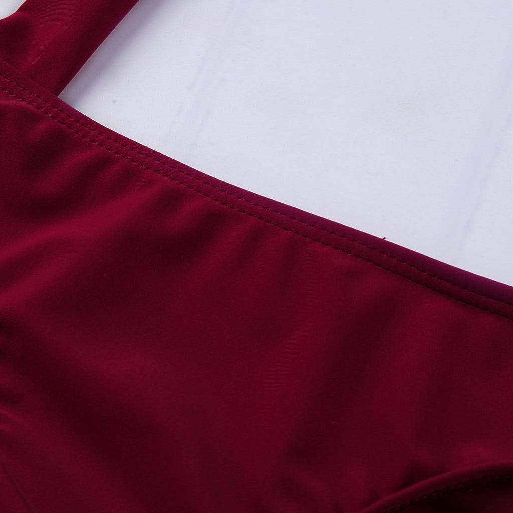 HTB1YFdSVhTpK1RjSZR0q6zEwXXaT 7 Colors Women Sexy Solid High Cut One Piece Push Up Padded Bra Swimsuit Funny Bathing Suit Monokini Swimwear Bikini 2019 Mujer