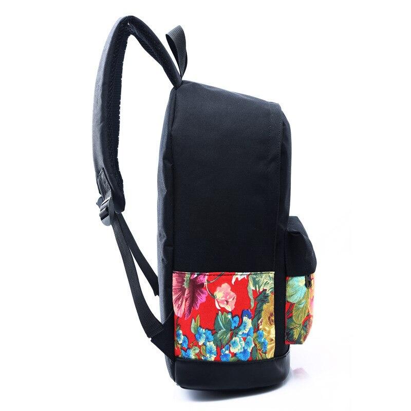 fahsion mulheres impressão mochila estilo Tipo de Item : Mochilas