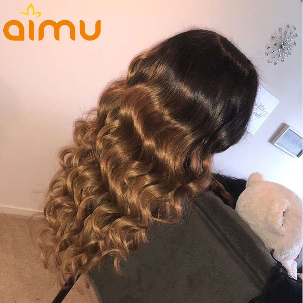13X6 Ombre ลูกไม้ด้านหน้าวิกผมเด็ก Loose Wave 180 ความหนาแน่น Pre Plucked บราซิล Remy Human Hair wigs สำหรับผู้หญิงสีดำ-ใน วิกผมลูกไม้ด้านหน้า จาก การต่อผมและวิกผม บน AliExpress - 11.11_สิบเอ็ด สิบเอ็ดวันคนโสด 1