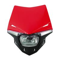 Red Black 12V Motorcycle LED Headlight Fairing Kit Hi Lo Beam For Yamaha Honda Suzuki Aprilia
