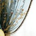European High-grade Screens Sheer Pastoral Flower Embroidery Romantic Tulle Curtains Custom for Cafe Living Room tt-0008