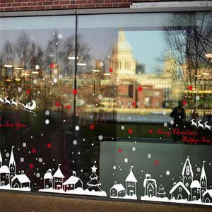 Image 5 - Chúc Giáng Sinh Họa Tiết Vườn Dán Tường Nghệ Thuật Có Thể Tháo Rời Nhà Vinyl Dán Tường Cửa Sổ Dán Decal Trang Trí An Toàn Cho Trẻ Em