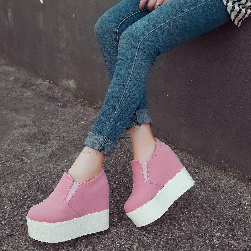12 noir Joker Avec Beige blanc Compensées rose rose Chaussures Épaisses Augmenté 2017 Simple Nouvelle Haute ivoire Rouge Semelles Éponge Cm La Bas Loisirs xqz0gwpT