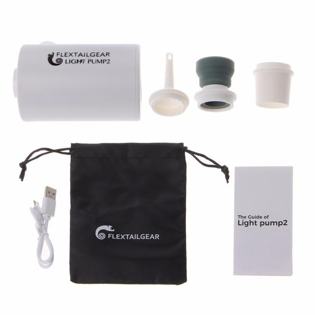 Mini bomba de aire ligera a prueba de agua, carga USB para inflables, inflado rápido