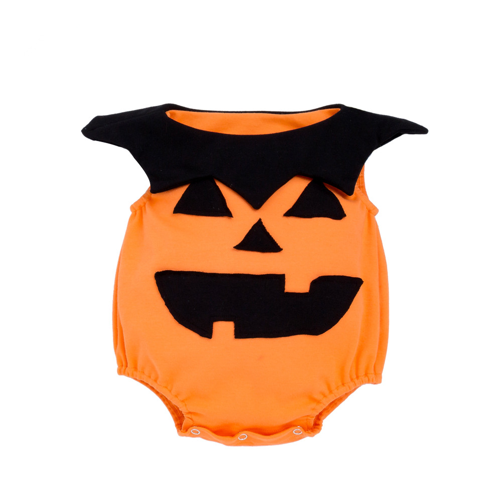 Cute Baby Pumpkin Bodysuits Newborn Halloween Clothes Infant Boys Girls Jumpsuits Toddler Cute Photography props Costumes B226