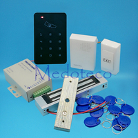 Full 125khz Rfid Card Door Access Control System Kit EM Card Access Controller 350lbs Magnetic Lock