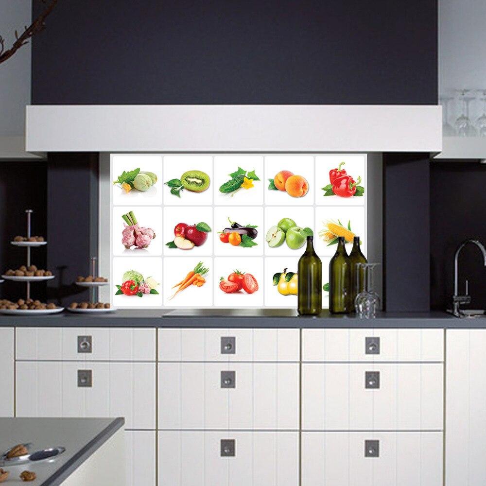 Kitchen aluminum foil waterproof decorative stickers home decor wall ...