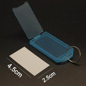 Image 5 - جديد 50 قطعة حلقة معدنية ملونة البلاستيك مفتاح Fobs الأمتعة بطاقة الهوية تسمية الاسم العلامة كيرينغ المفاتيح تصنيف سلسلة مفاتيح