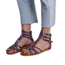 Women's Open Toe National Wind Embroider Sandals/Bohemian Style Sandals