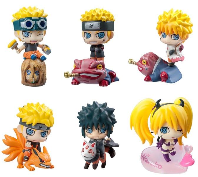 6pcs/set Pop Naruto Sasuke Kakashi Uchiha Itachi Mounts Gaara Figures Japan Anime Collections Toys action figure gift #E ingco