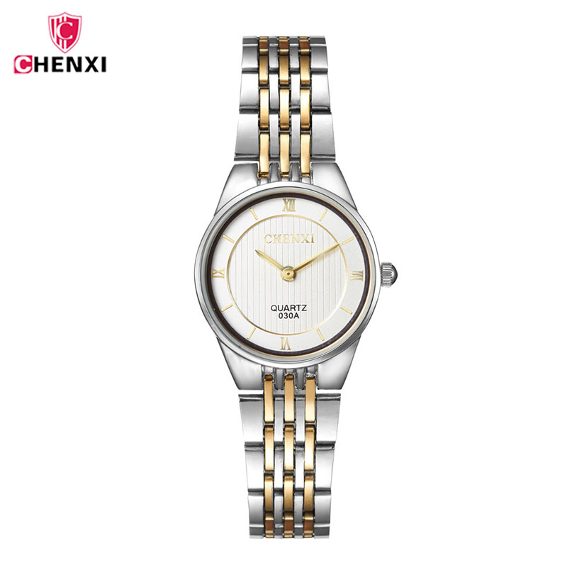 CHENXI Brand Top Watch Women Luxury Dress Steel Watches Fashion Casual Ladies Quartz Wristwatch Rose Gold Female Gift clock 4652 trendy solid color heart pendant women s bracelet