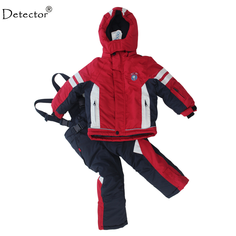 Detector winter thicken baby winter clothing set Ski suit set outdoor snowboard jacket + pants twinset suitable -20-30 degree gsou snow ski suit for women skiing suit winter outdoor sports clothes snowboard set camouflage ski jacket and pants multicolor