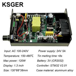 Image 4 - KSGER T12 OLED Soldering Station T12 Iron Tips STM32 DIY Assembled Kits ABS Plastic FX9501 Handle Electric Tools Welding Heating