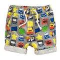 Ropa linda niños del algodón del verano de la playa deportes masculinos pantalones mid hasta la rodilla niños shorts pantalones pantalones niño preescolar harem