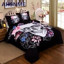 ahsnme 3d skull bedding sets plaid duvet covers for king size bed europe style sugar skull bedding pink flower duvet cover