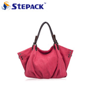 2015 New Women Bag Canvas Handbags Large Capacity Seven Solid Colors Fashion Vintage Style Soft High