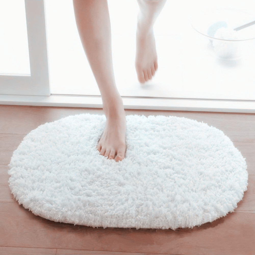 NEW 2016 Design Hot Sale New 360 Rotatable of Super Magic Slip-Resistant Pad Room Oval Carpet Floor mats 40*60CM Free Shipping image