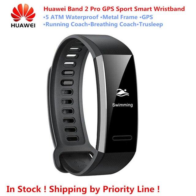 Новинка! Оригинальный huawei Band 2 Pro gps спортивный умный Браслет 5ATM водостойкий PMOLED экран сна пульсометр умный Браслет