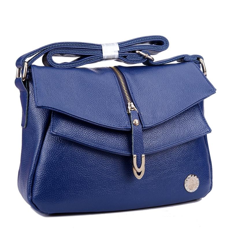 Hot Sale Fashion Vintage Women Handbag Genuine Leather Ladies Messenger Bag Black Brown Shoulder Bag Crossbody Travel Bags Bolsa