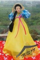 Decoração Artes artesanato presentes da menina casar A antiga boneca Coreano drama de costumes trajes de seda beleza decoração de mesa deco