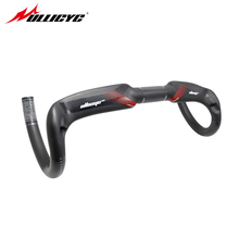 купить Ullicyc Ultra Light superstrong 3K/UD Full Carbon Fiber Bicycle Handlebar Road Bicycle Handlebar Bent Bar 31.8mm*400/420/440mm дешево