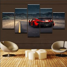 Modern HD Printed Modular Picture Framework Wall Art Poster 5 Panel TOYOTA 86 FRS BRZ Racing Car Canvas Painting Home Decorative