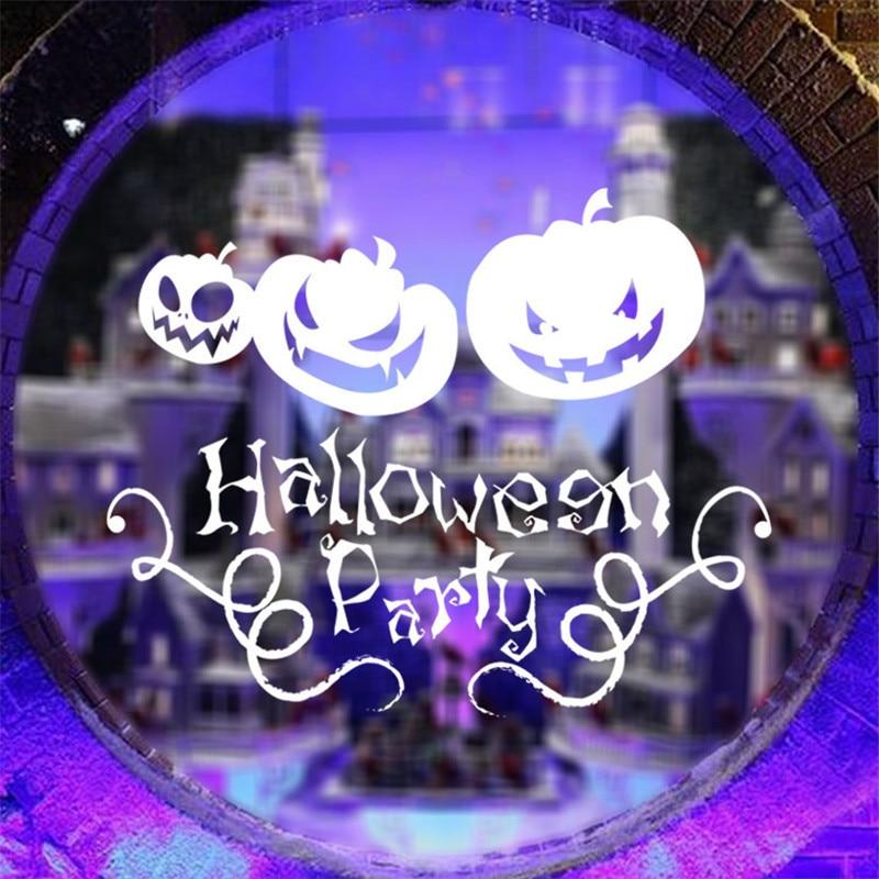 1pc halloween window decal pumpkins wall stickers creative party decoration kids gift sticker vby95 p0 - Halloween Window Decals