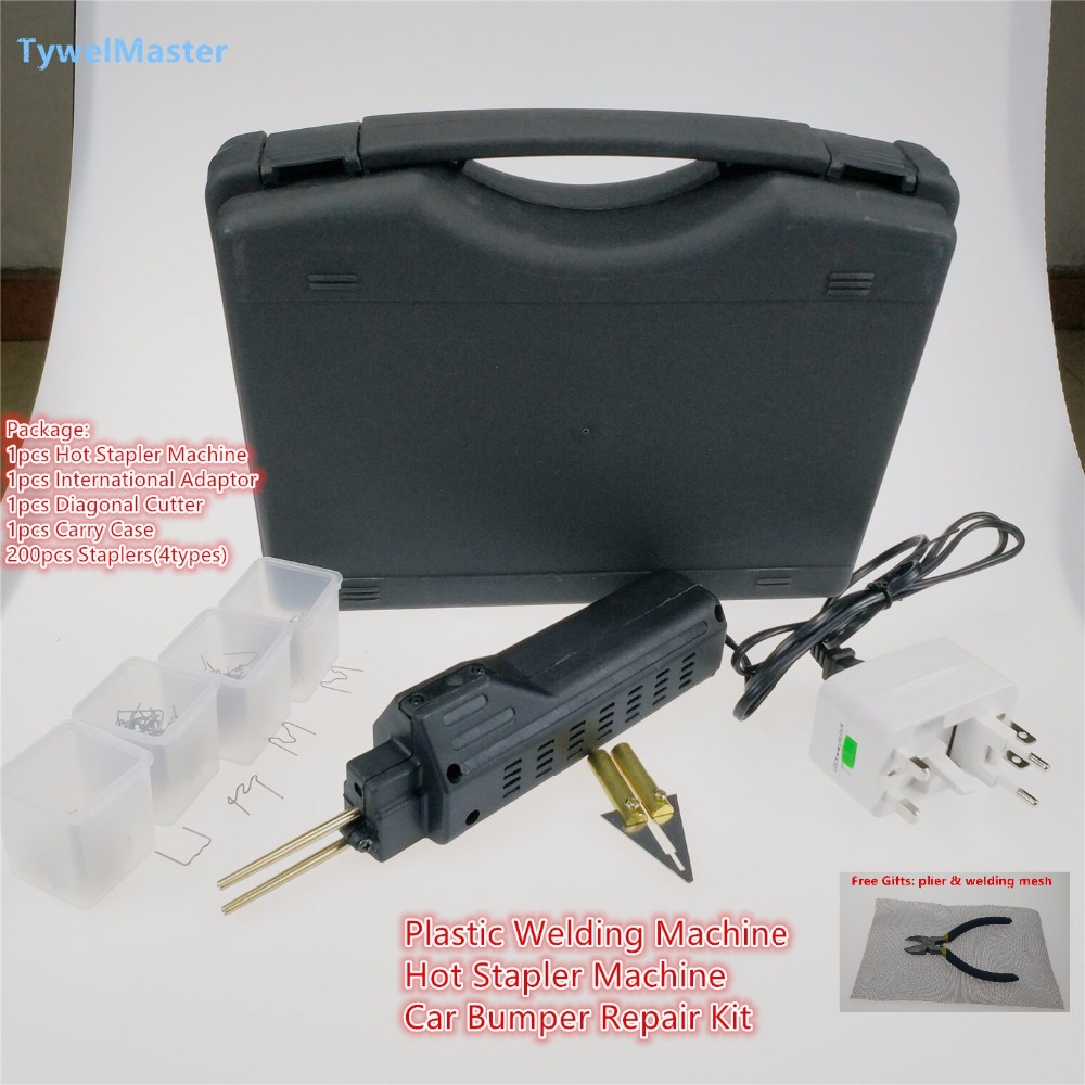 Car Bumper Repair Kit Hot Stapler Plastic Repair System Car Bumper Plastic Welder Staple Plastic Welding Machine Kit crocodile skin pattern cow leather wristwatch strap watchband black size 20l