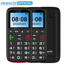 GSM 2G VKworld Z3 rusça klavye Cep Telefonu 1.77 inç FM Kıdemli Çocuklar Mini telefon çift SIM Cep Yüksek Sesle Hoparlör Yaşlı Telefon SOS