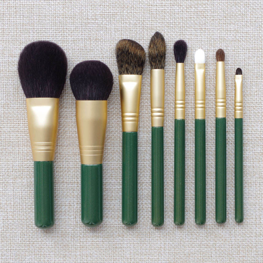8pcs Professional Makeup Brushes Set Goat Squirrel Horse Hair Make up Cosmetic Tools Powder Blush Sculpting Eye Shadow Brush 8pcs rose gold makeup brushes eye shadow powder blush foundation brush 2pc sponge puff make up brushes pincel maquiagem cosmetic