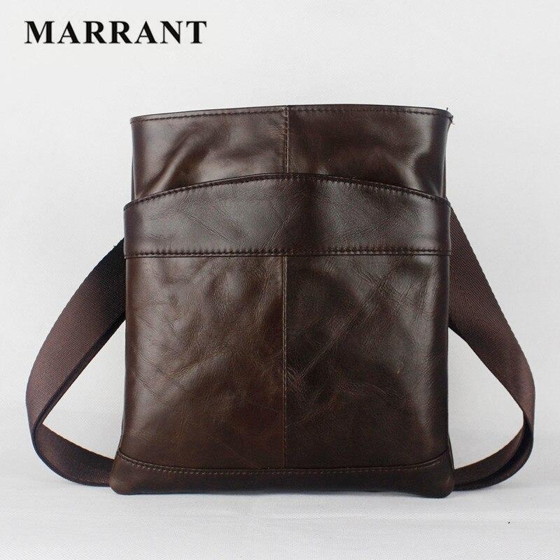 MARRANT TOP Selling Genuine leather men shoulder bag Fashion casual men messenger bag crossbody bag High
