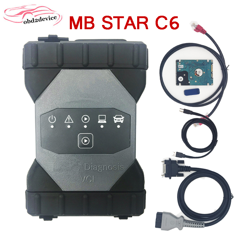MB Star C6 Car Diagnosic Xenntry VCI With SSD V12.2019 Software C6 Support CAN/DOIP Protocol Mb C6 Xenntry VCI MB CAR Scanner