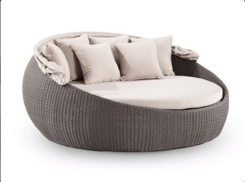 2017 garden furniture wicker day bed outdoor royal round bed-in Sun ...