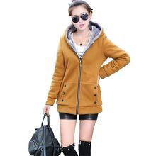 Зимнее пальто Новый стиль женские пальто Чистый цвет с длинными рукавами куртка с капюшоном Добавить шерсть теплые хлопковые пальто больших ярдов Тонкий женские пальто G2578