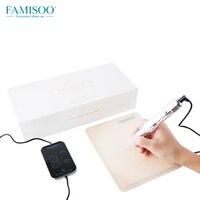 FAMISOO H6 Permanent Tattoo Makeup Double Needles Machine Set for Eyebrow Eyeliner Lip Makeup Tattoos Gun High Quality