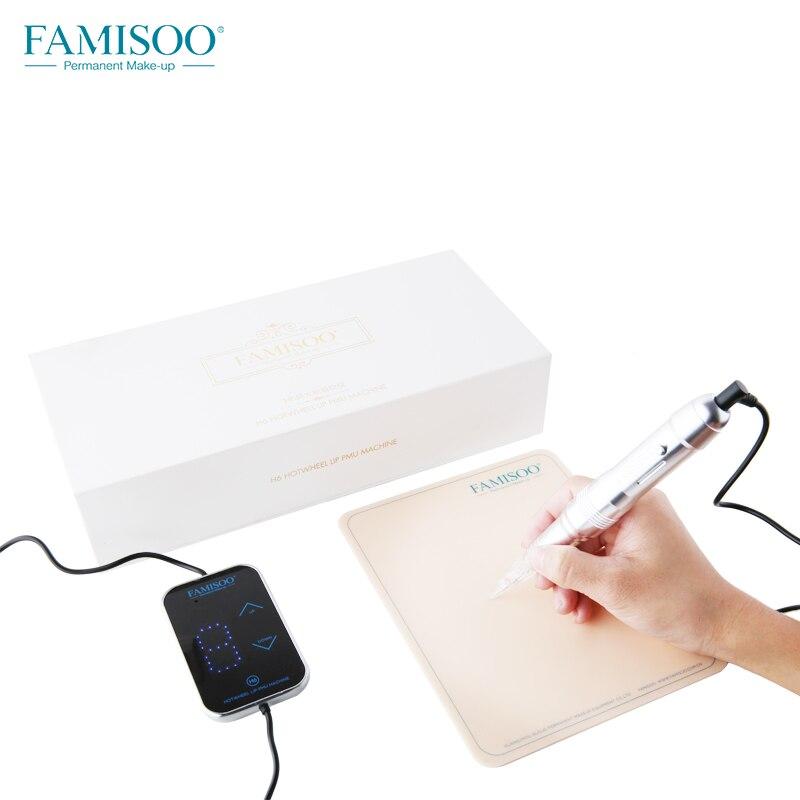 FAMISOO H6 Tatouage Permanent Maquillage Double Aiguilles Machine Ensemble pour Sourcils Eyeliner Lip Maquillage Tatouages Gun Haute Qualité