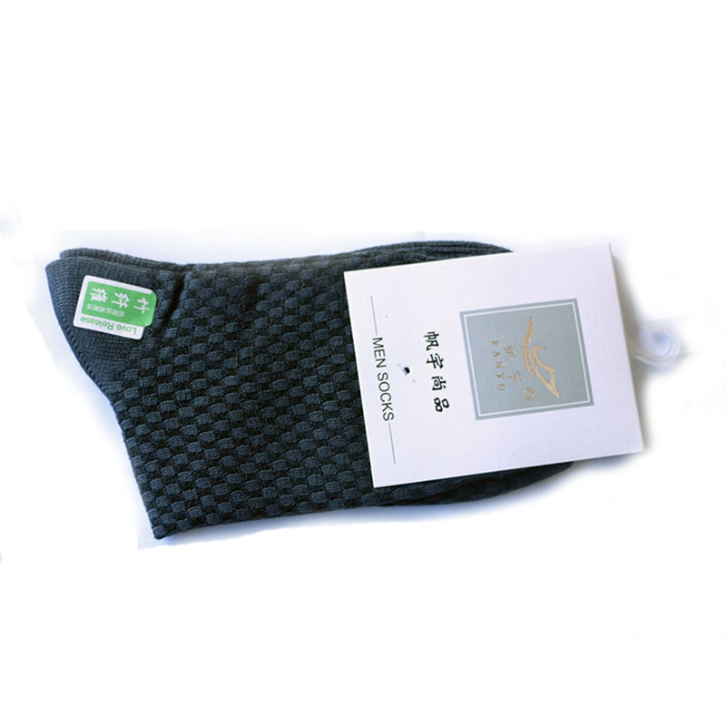 SHIFUREN Breathable 1 Pairs Men Socks Cotton & Bamboo Fiber Soft Classic Business Socks Style & Color By Random (1 pairs / lot)