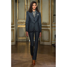 New Charcoal Women Business Work Suits With 2 Piece Jackets+Pants Formal Office Uniform Design Professional Female Trouser Suit