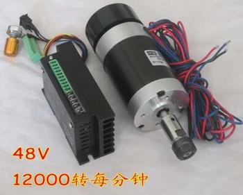 DIY engraving machine WS55-180 brushless spindle with Mach3 drive ER11 PCB 400W