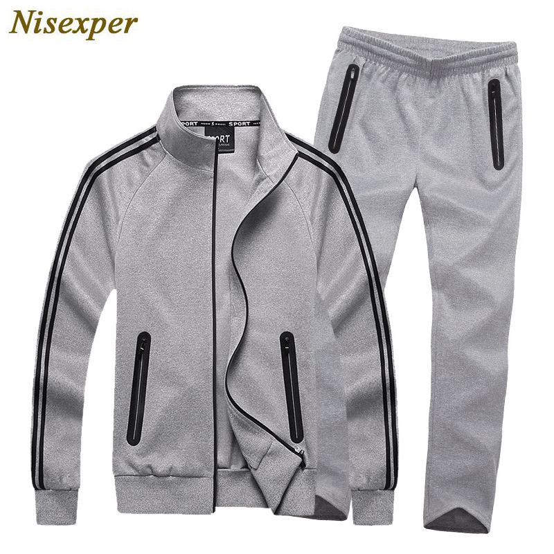 High Quality 2018 Tracksuit Men Sporting Hooded Brand-Clothing Casual Track Suit Mens Jacket+Pant Men Sweat Suit Big Size 8XL